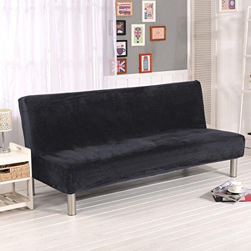 Dicker Sofaschutzüberzug, unifarben, Sofaschonbezug, elastischer Stretchstoff, mit festen Stretchhussen, ohne Lehnen, für Sofa, Bett, Hundebett, Couch, ausziehbar, grau, 180-210CM