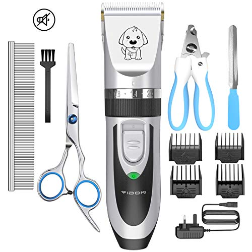 YIDON Dog Clippers, Cordless Dog Grooming Clippers Low Noise,Quiet...