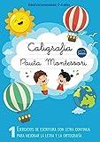 Caligrafía Pauta Montessori: Ejercicios de escritura con letra continua - Para mejorar la letra y la ortografía - Cuaderno pauta montessori 5mm
