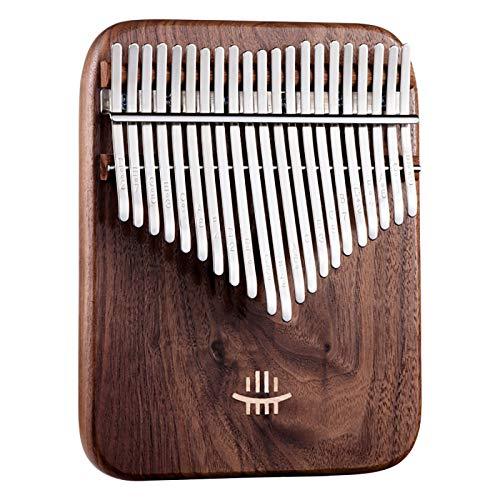 LYN Kalimba 21 Ton Daumenklavier Instrument Mit,Mit Tonabnehmer, Stimmhammer, High-End-Klavierkoffer, Tragbares Afrikanisches Holz Finger-Klavier Für Kinder Erwachsene Anfänger