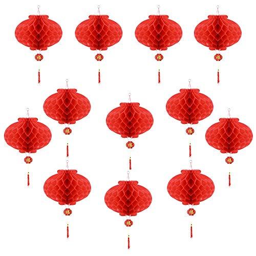Lapus - 12 farolillos Rojos decoración Primavera