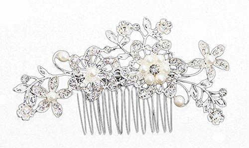 Milopon Bijou de cheveux avec peigne pour mariage, mariée, demoiselle d'honneur, robe de mariage, accessoire de mariée, accessoire de danse.