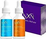NxN Vitamin C & Hyaluronic Acid Anti Aging Serum Set, Clinically Proven to Brighten Skin, Reduce Dark Spots, Improve Hyper Pigmentation Age Spots, Reduce Fine Lines & Wrinkles - 1fl oz Face Kit