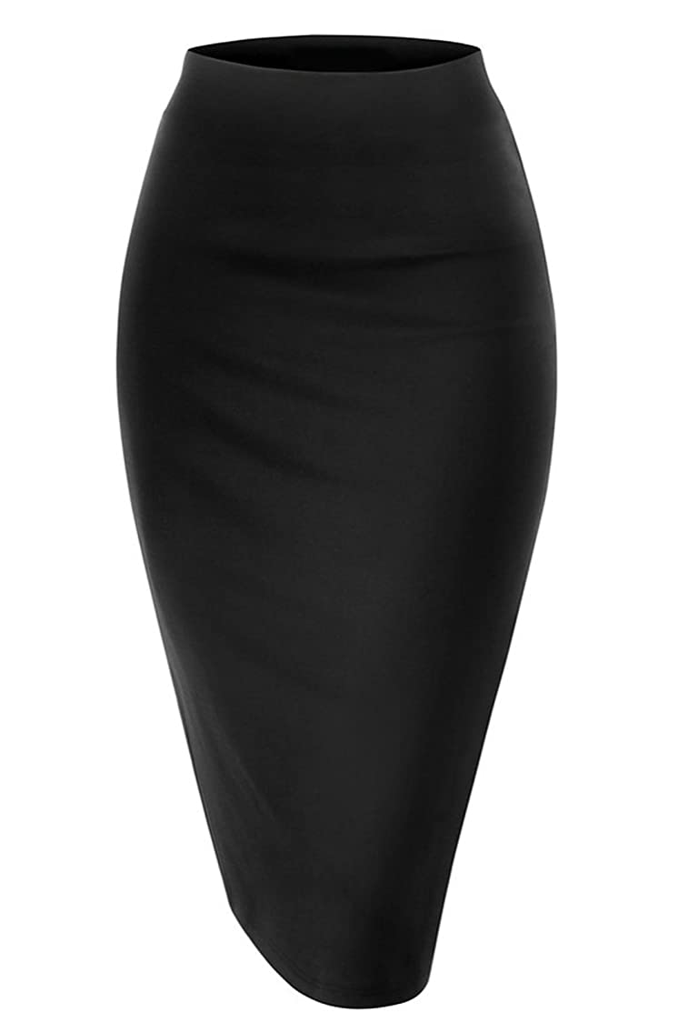 NBU Women's Waist Stretch Bodycon Midi Pencil Skirt