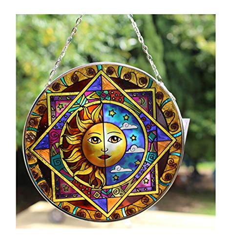 Thorness Sun and Moon Eclipse Glass Sun Catcher