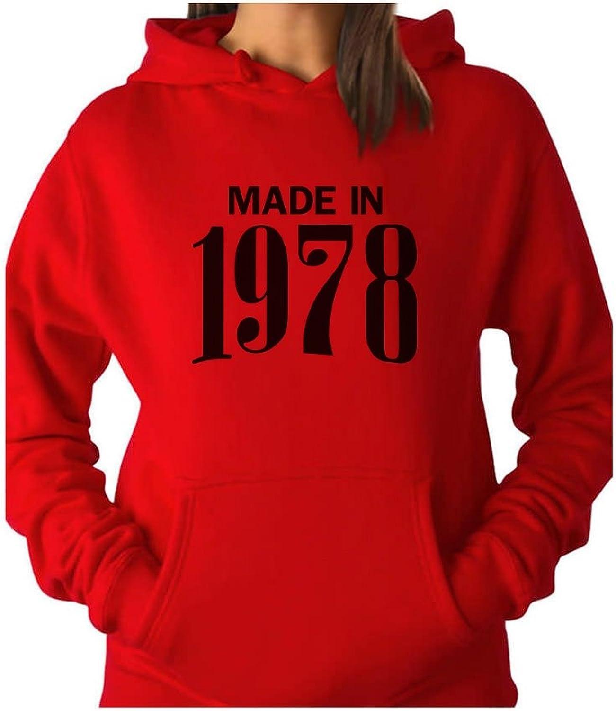 Tstars  Perfect 40th Birthday Gift Made in 1978 Women Hoodie