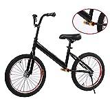 Draisiennes Velo sans pedale Vélo d'équilibre pour Adultes/Grands Enfants/Filles/garçons, vélo sans pédale Noir avec Roues de 18 Pouces et Guidon réglable