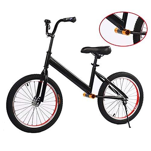 Bicicleta sin pedales Bici Bicicleta de Equilibrio para Adultos/niños Grandes/niñas/niños, Bicicleta Negra sin Pedal con Ruedas de 18 Pulgadas y Manillar Ajustable