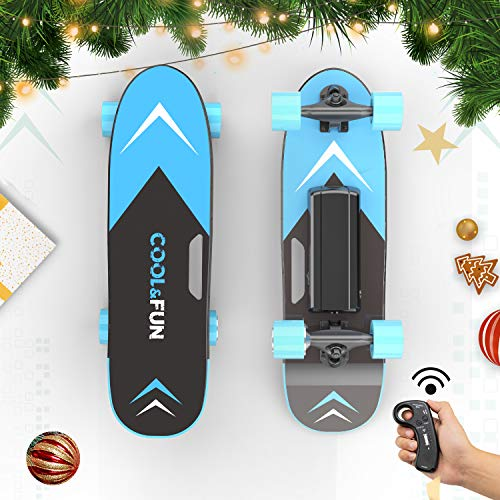 HITWAY Elektro-Skateboard mit Fernbedienung, 150 W Moter Max. Geschwindigkeit 15 km/h, selbstausgleichendes tragbares E-Longboard und Allrad, geeignet für Jugendliche und Erwachsene