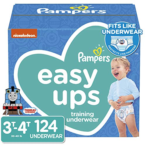 Pampers Easy Ups Training Underwear Boys Size 5 3T-4T 124 Count