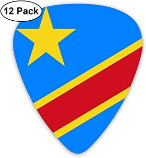 Yongchuang Feng Congo Flag Guitar Picks Bass Ukulele Mandolin Plectrum Musical Instruments 12-Pack Thickness 0.46/0.73/0.96 Mm