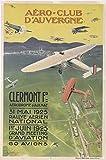 Aéro Club Auvergne 1925 Poster, Reproduktion, Format 50 x