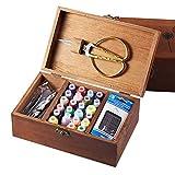 QYWJ Cesta de Coser de Madera, Caja de Organizador Vintage portátil con Hilo/Agujas/Cinta métrica/Tijeras/dedal y Otros Accesorios, Suministros de Costura para Viajes a casa