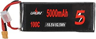 KINGDUO 18.5V 5000Mah 100C 5S Lipo Batterie Xt60 Plug pour Rc Racing Drone Quadricoptère