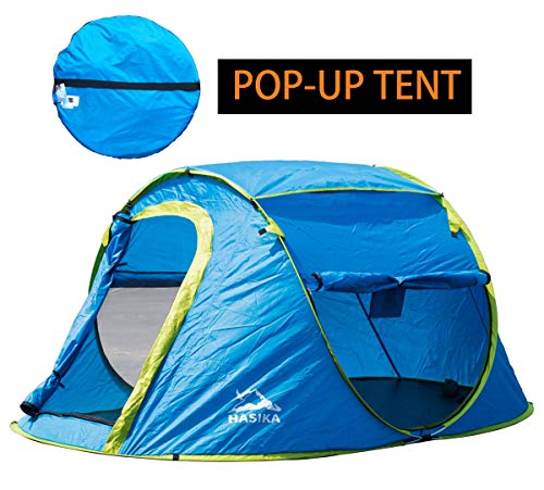 Hasika Pop-up 2 Person Tent an Automatic Instant Portable Beach Tent - Water-Resistant & UV Protection Sun Shelter - with Carrying Bag