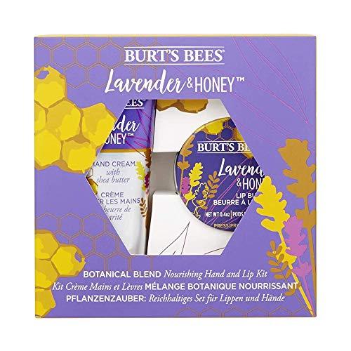 Burt\'s Bees Pflanzenzauber Pflegendes Handcreme Und Lippenpflege Set, Lavende & Honig, 71 G