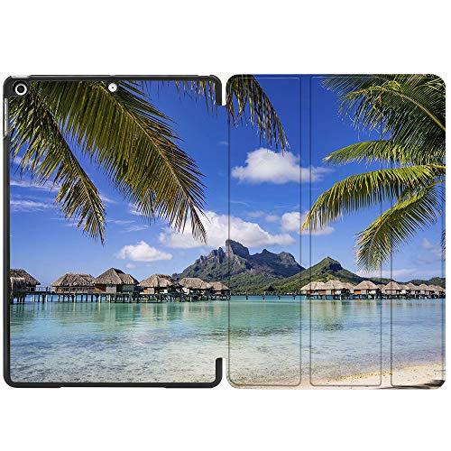 SDH Funda para iPad de 10,2 pulgadas 2019 2020, ,función de encendido y apagado automático, delgada y ligera, triple función atril para iPad 7ª 8ª generación 10.2 pulgadas 2020,Beach Scenery 9
