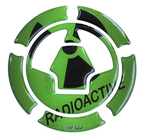 Almohadilla de depósito 3D 640003 Radioactive Green – Protección universal para depósitos de Kawasaki