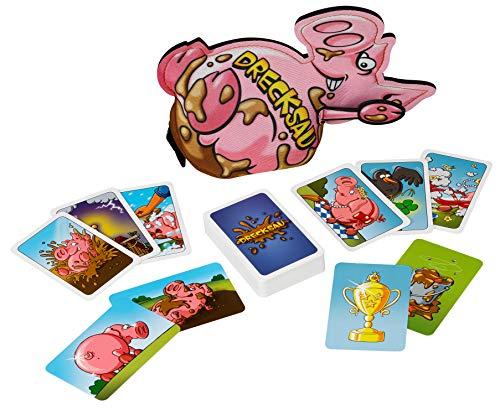 KOSMOS 740405 Drecksau to go Das saucoole Kartenspiel inklusive Erweiterung, in praktischer Neopren-Tasche, Partyspiel
