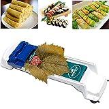 AUOKER - Máquina enrolladora para hacer dolmas/sarmas y sushi. Herramienta para principiantes y niños. Hojas de parra y de repollo rellenas de carne y verduras