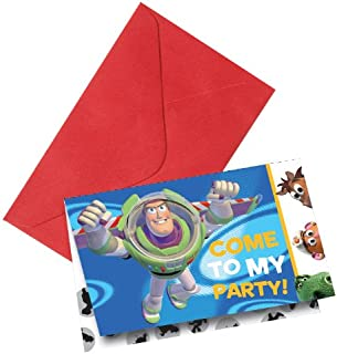 Disney The Toy Story Invitation Card Blue