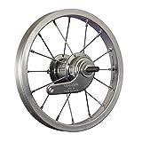 Taylor-Wheels 12 pulgadas rueda trasera bici buje freno contrapedal plateado
