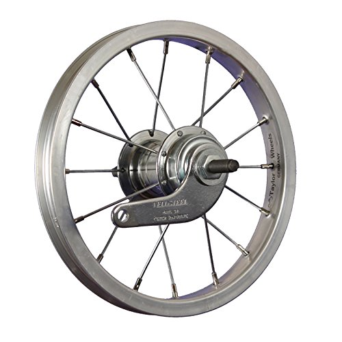 Taylor-Wheels 12 Zoll Hinterrad Laufrad Alufelge/Rücktrittbremse - Silber