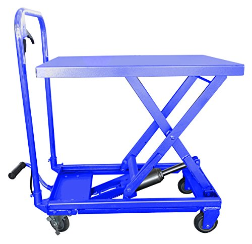 i-Lift Equipment TC22P Mobile Scissor Lift Table, 500-Pound Capacity, 9-1/4-Inch to 28-1/2-Inch Height