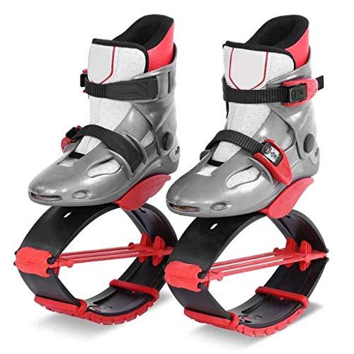 Momomomo Springt Fitness Schuhe Unisex Jumping Boots, Bounce, Outdoor, Sport, Skyrunner (RED) (Size : M)