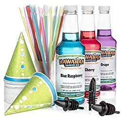 top rated Hawaiian ice shaving syrup, 3 accessory bags 2021