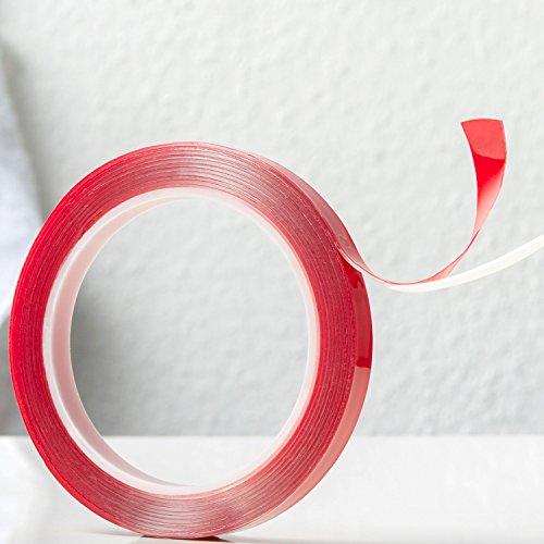 Power Tape doppelseitiges transparentes Klebeband | 3 Meter | Reparaturband | Doppelklebeband | Klebebandrolle