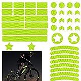 42 Stück Reflektoren Aufkleber Sticker,Reflexfolie Selbstklebend,Reflektor Aufkleber Set,Fahrrad...