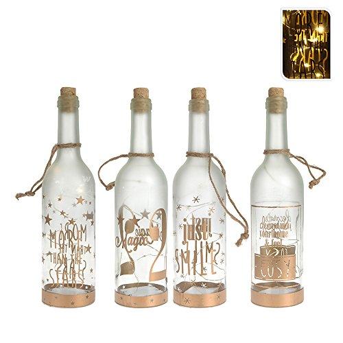 EDM 71362 Botella Decorativa Cristal Led, Varios Colores, 30 Cm