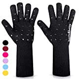Beets & Berry Oven Gloves Heat Resistant 1 Pair Oven Mitts Cut Resistant Cooking Gloves with Extra...