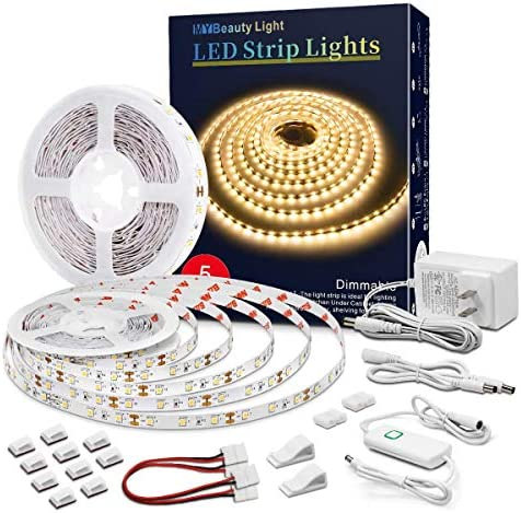 Led Strip Lights 32 8 Feet Warm White Dimmable Led Light Strip Flexible Rope Lights Kits with product image