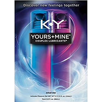 K-Y Yours + Mine Couples Personal Lubricants 3.0 oz  Pack of 4