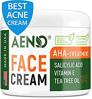 Acne Treatment Natural Cream - Made in USA - Acne Scar Removal & Acne Spot Pimple Cream with Tea Tree Oil - Safe & Intensive Cystic Acne Removal - Prevent Breakouts for Normal Dry & Oily Skin - 4 oz