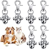 6 Pieces <span class='highlight'>Pet</span> <span class='highlight'>Bell</span>s for Collars Loud Dog <span class='highlight'>Bell</span>s Key Rings Dog <span class='highlight'>Bell</span> Collar Charm Dog Triple <span class='highlight'>Bell</span> Pendant for Dog Cat Necklace Collar Decoration and Training (Silver)