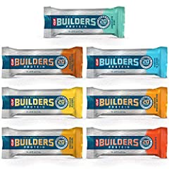 HELPS BUILD & REPAIR MUSCLES: You're building towards something great—even after your workout! That's why our BUILDERS protein bars have 20 grams of complete protein with essential amino acids that help build & repair your muscles faster. CARBOHYDRAT...