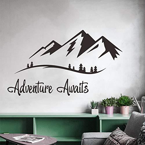 Sticker mural aventure attend vinyle autocollant chambre fond décoration pour la maison