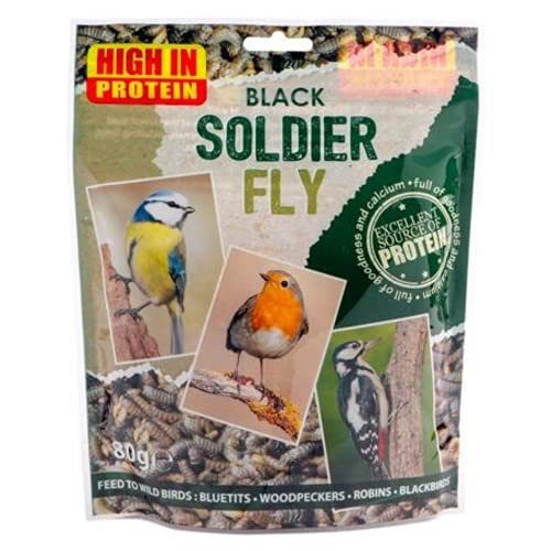 FabFinds 100% Black Soldier Fly Larvae for Wild Birds Reptiles Pond Fish Turtle 1Kg