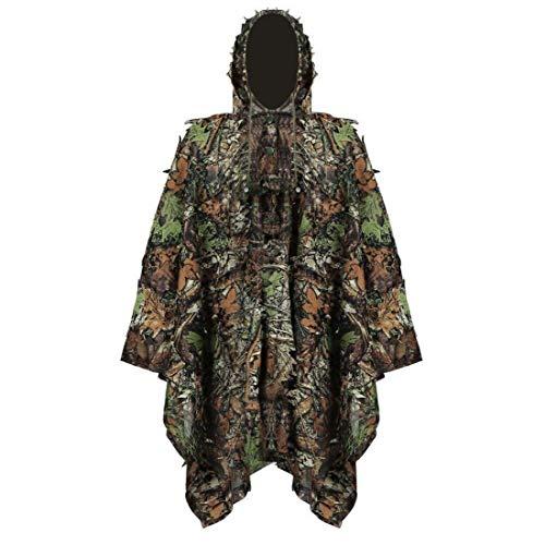 NaisiCore Ghillie Suit Stealth Sniper Set 3D-Camouflage Cape Umhang Dschungel für Outdoor Weihnachtsdekoration
