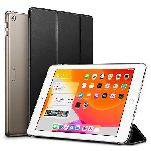 ESR Hülle für iPad 10,2 2019 Hülle (iPad 7. Generation) - Ultradünnes Smart Case mit Auto Schlaf/Wach-Funktion und Stabilem Ansichts-/Tippmodus- Standhülle mit Harter Rückseite - Schwarz