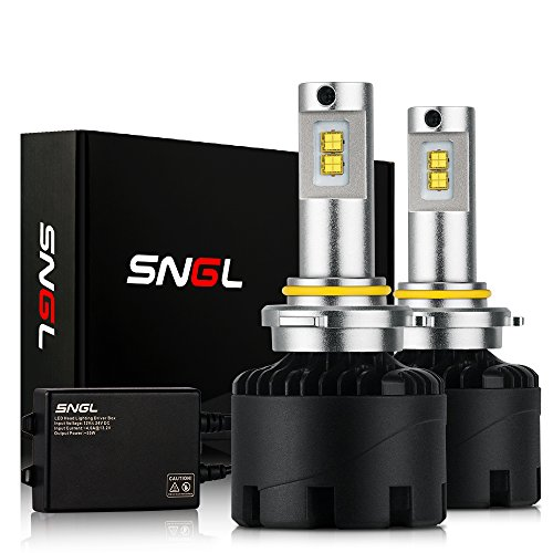 SNGL Super Bright LED Headlight Bulbs 9006 ( HB4 ) - Adjustable-Beam- 110w 12,400Lm - 6000K Bright White