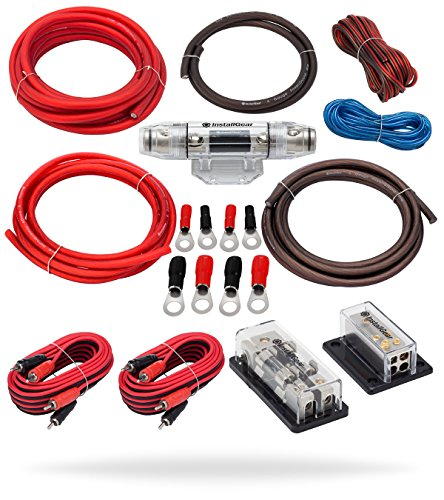 InstallGear Dual 4 Gauge Amp Kit Amplifier Installation Wiring True Spec and Soft Touch Wire