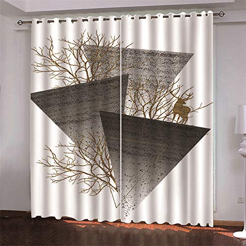 Michance 2-Pack Curtains 3D Realistic Creative Curtains Suitable For Curtains Of Shopping Malls, Hotels And Playgrounds Effectively Protect Personal Privacy
