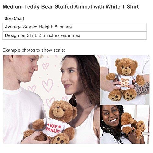 Romantic Custom Teddy Bear Gift: 8 Inch Teddy Bear Stuffed Animal