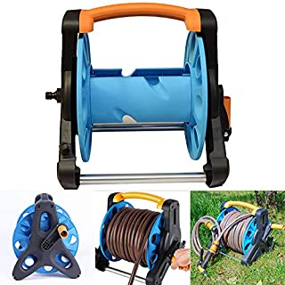 Portonss Garden Hose Reel Stand Portable Freestanding Hose Reels Water Pipe Storage Rack Cart Holder Bracket for 35m 1/2 I...