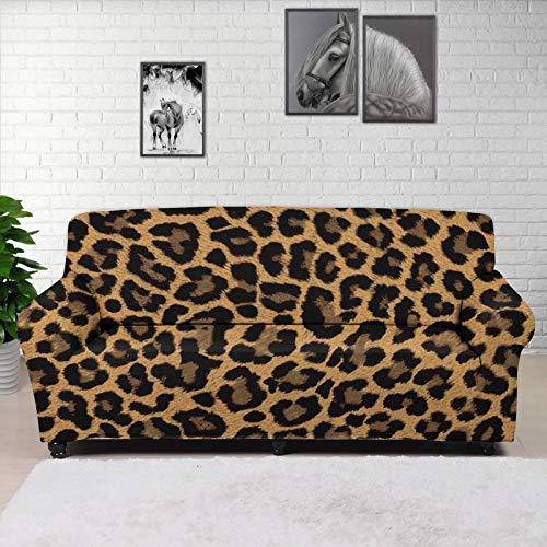 Hugding Classica Leopardo Lavabile in lavatrice Slipcovers African Wild Animal Brown Ghepardo Design Recliner Divano Copertura Universale Montato Divano Sedili