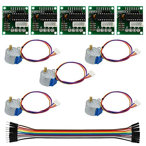 NA 5Pcs 5V Stepper Motor with ULN2003 Speed Driver Controller Board Cable Kit